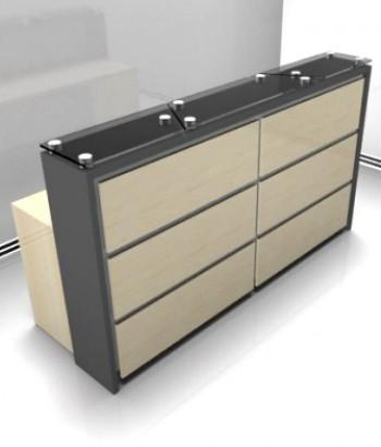 Mueble de recepci n especialistas en la fabricaci n y for Mueble recepcion oficina