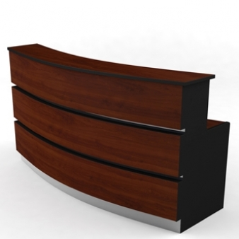 Mueble recepci n semi curvo especialistas en la for Mueble recepcion medidas